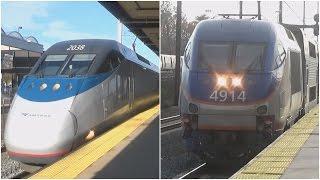 Amtrak and MARC Railfanning at New Carrollton