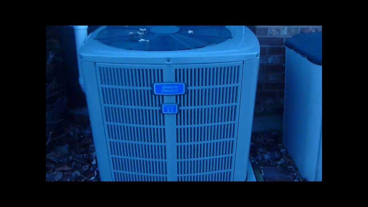 2008 American Standard 13 Seer Air Conditioner Youtube