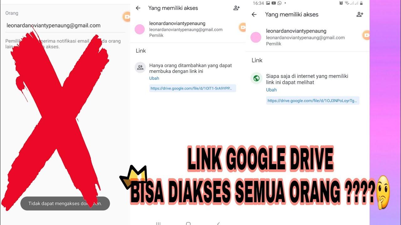 Cara Agar Link Google Drive Bisa Diakses Semua Orang Tutorial Youtube