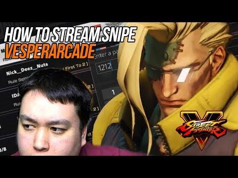 SF5 - How to stream snipe VesperArcade in Street Fighter 5 (stream highlight)