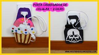 Porta Carregador de celular – Cupcake e Star Wars – caixa de sapato