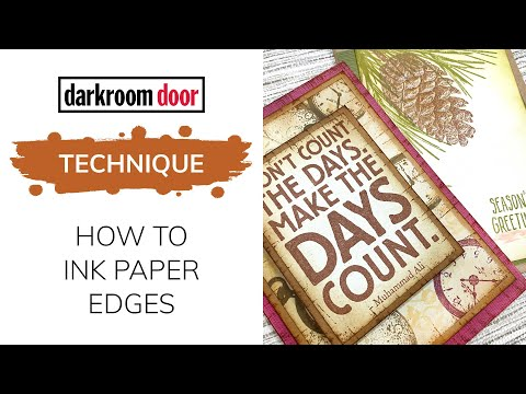 How to Ink Paper Edges