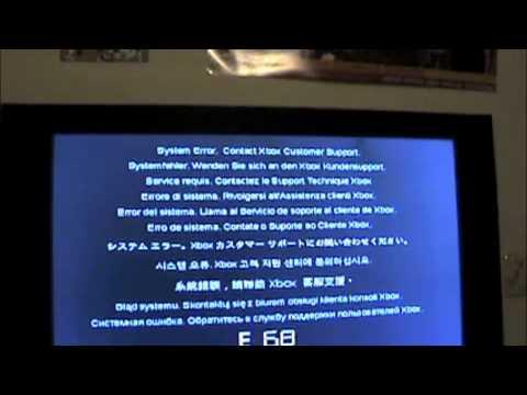 Xbox 360 Slim E-68 Error