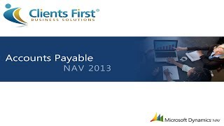 Microsoft Dynamics NAV 2013 Accounts Payable Training Demo Part One
