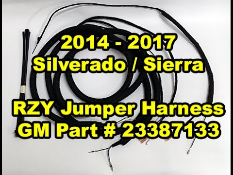 Chevy Silverado Wiring Diagram Gm 2014 2017 Towing Mirror Jumper Harness Gm Part