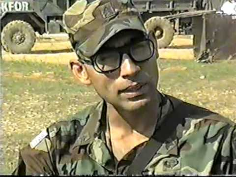 Army My Sergeant's Videos When In Kosovo, camp bondsteel (Me Pfc John  Biter) 3/504 PIR
