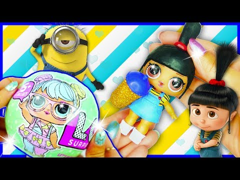 DIY AGNES MINIONS LOL Surprise Custom Doll  Toy Tutorial & Unboxing for Kids