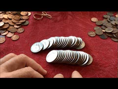 COIN ROLL HUNTING 2 HALF DOLLAR ROLLS LIVE