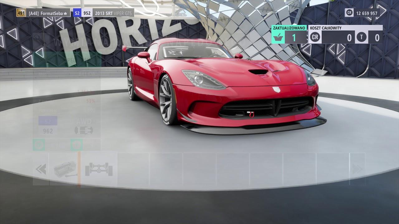 Forza Horizon 3 Tuning 2013 SRT Viper GTS Top Speed - YouTube