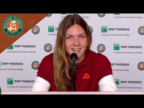 Simona Halep - Press Conference after Quarter-Final I Roland-Garros 2018