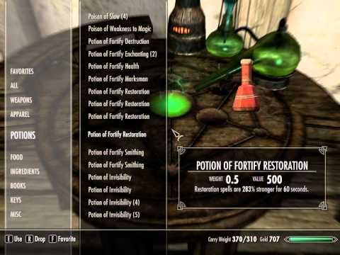 I'm Playing Skyrim - Fortify Restoration + Fortify Alchemy [exploit]