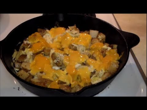 Cheddar Home Fries And Eggs Cast Iron Breakfast Recipe