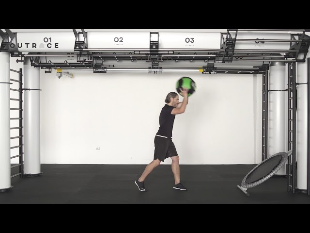 Ball Trampoline High Cross Throw