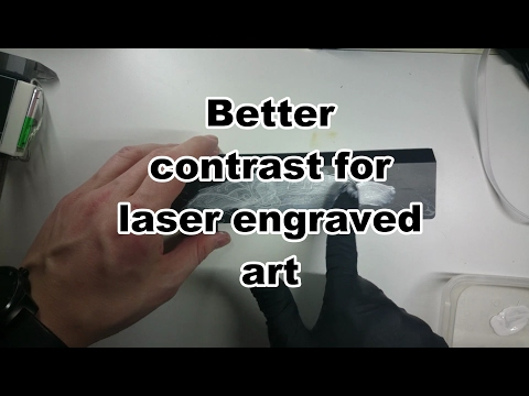 Enhancing laser engraving with some paint