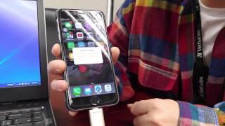 Verbatim Apple lightning OTG USB3.0 unboxing iPHONE, iPAD
