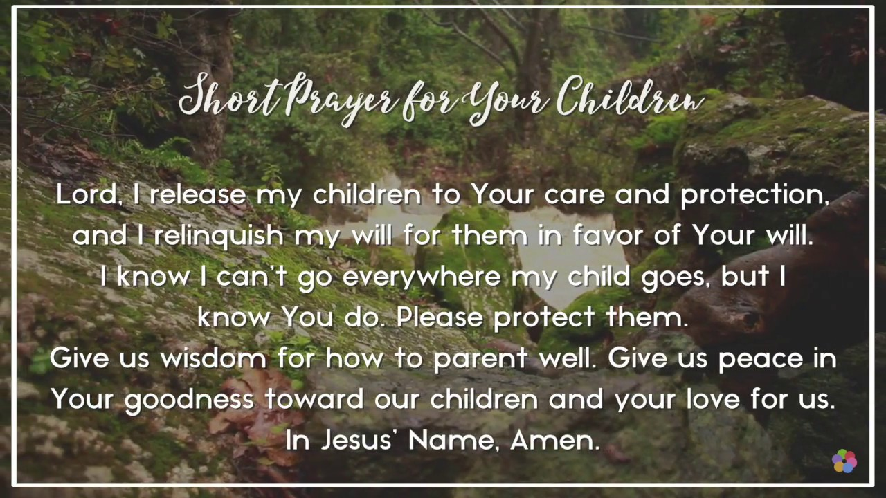 Pray For My Child Quotes: Short Prayer For Your Children