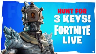 🔴 FORTNITE LIVE | UPGRADING PRISONER SKIN - STAGE 3 KEY HUNT! NEW FREE SNOWFALL SKIN!