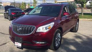 Pre Owned 2015 Buick Enclave FWD Sunroof 6 Passenger Heated Steering Red Oshawa ON Stock #180623A