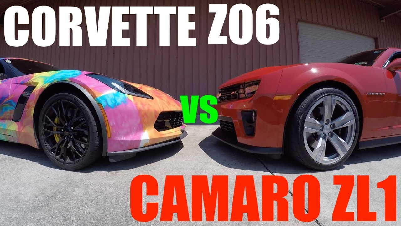 Camaro Zl1 Vs Corvette Z06 Who S Faster Youtube