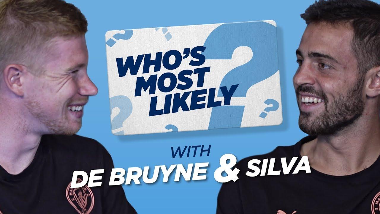 Download 100m SPRINT RACE?! | WHO'S MOST LIKELY? | DE BRUYNE & BERNARDO SILVA