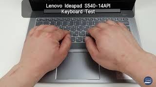 Lenovo Ideapad S540-14API Keyboard Test