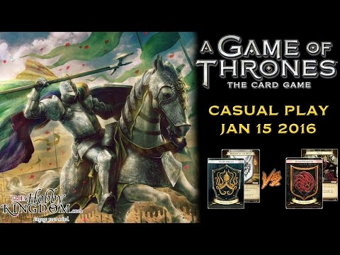 Game Of Thrones: Card Game Casual Play - Greyjoy/Wolf Vs. Targaryen Fealty