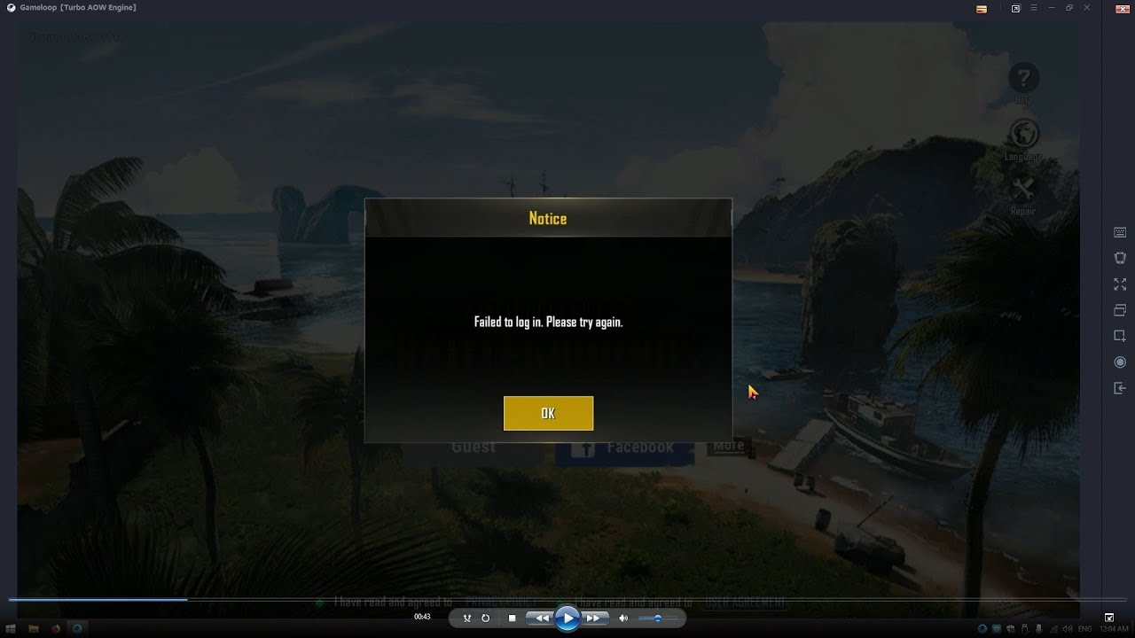 how to fix pubg emulator twitter sign in problem