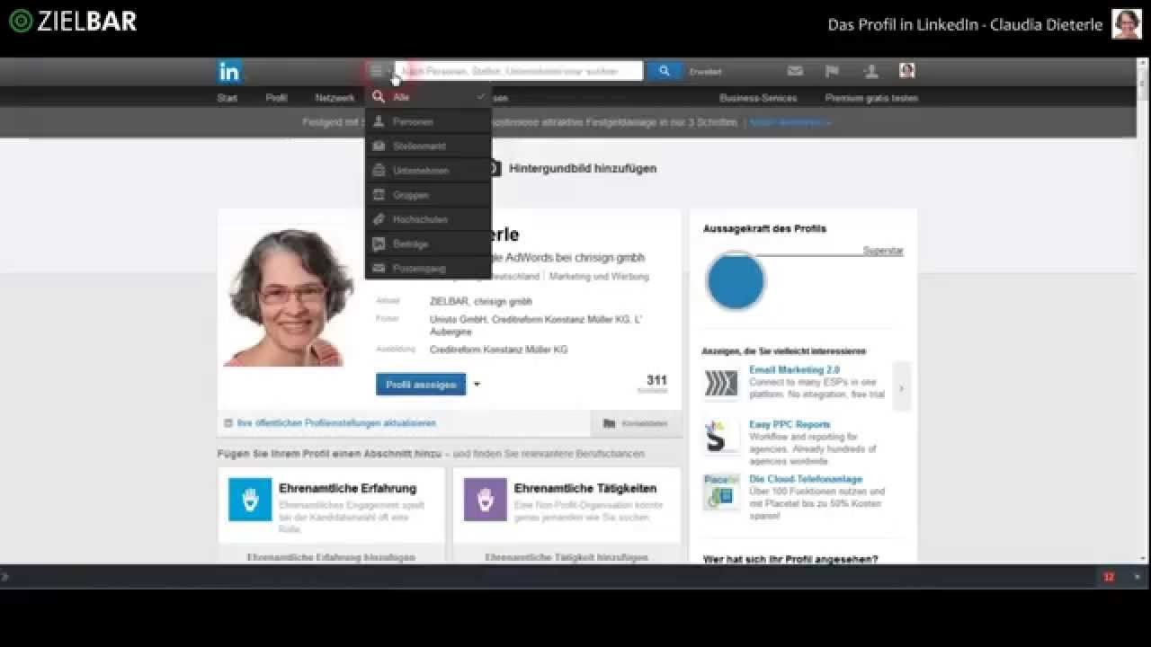Tolle Erstellen Sie Einen Lebenslauf Von Ihrem Linkedin Profil Ideen ...
