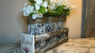 DOLLAR TREE DIY | FARMHOUSE CRATE