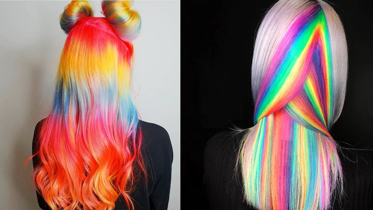 New Hair Color Ideas For 2018! Amazing Rainbow Hair Color ...