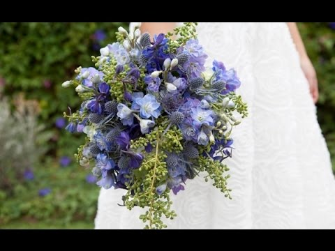 Light Blue Delphinium Wedding Bouquet - YouTube