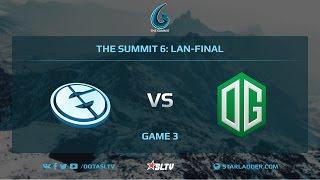 Evil Geniuses vs OG, Game 3, The Summit 6, LAN-Final