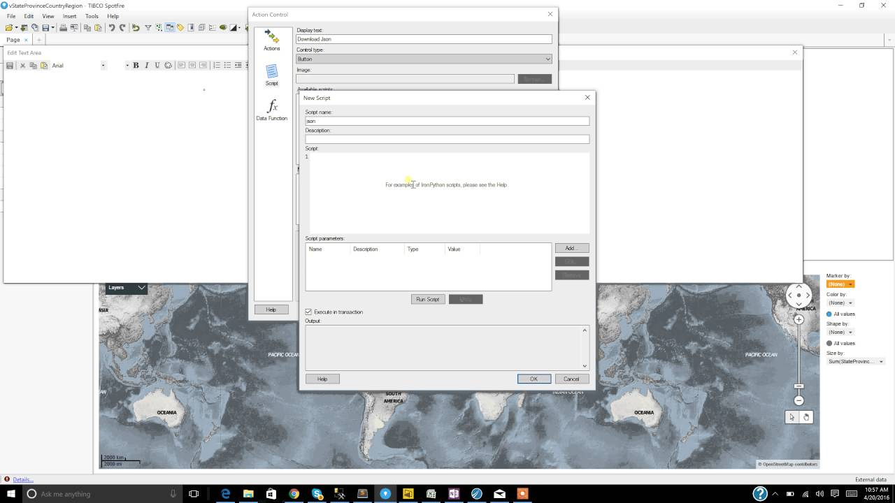 Loading Json data into Tibco Spotfire from Web API Part 1