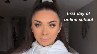 first-day-of-online-school-vlog-grwm