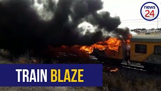 WATCH   Another passenger train burns in Cape Town