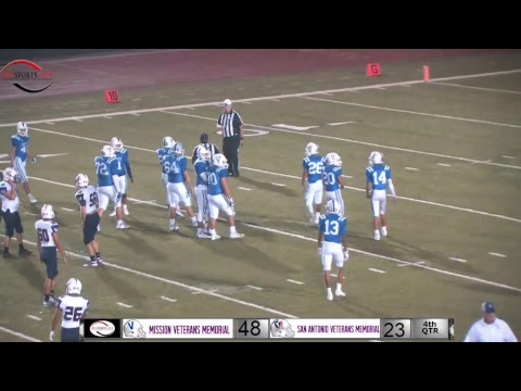 Mission veterans memorial VS San Antonio Veterans Memorial area  football playoff game