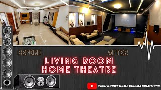 LIVING ROOM HOME THEATRE SETUP IN KERALA #HOMECINEMA #DOLBYATMOS