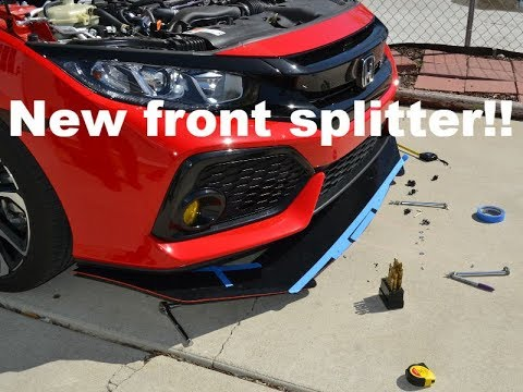 10th Gen Civic SI Front Splitter with Rods