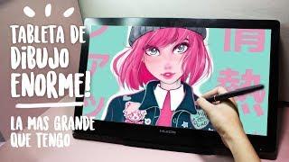 Dibujando con la Huion Kamvas GT-191 Review & Dibujo | Diana Díaz