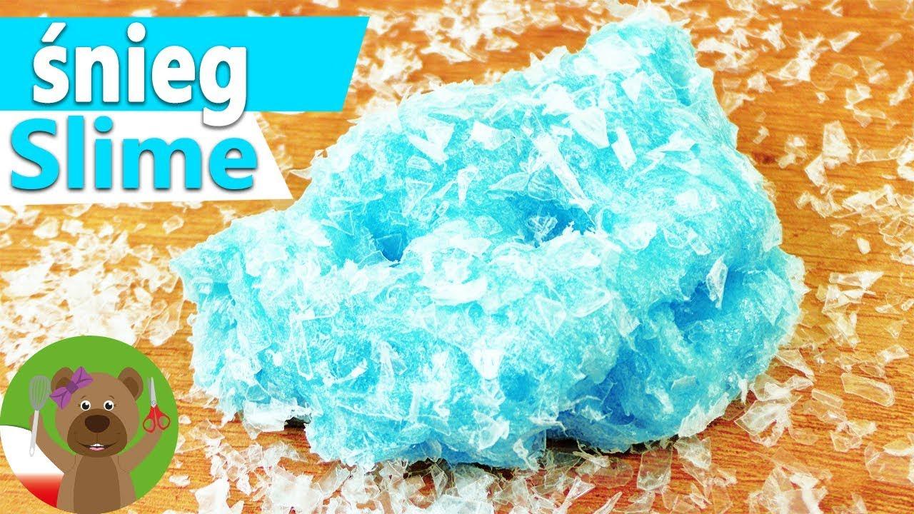 DIY Masa śniegowa | super masa plastyczna z kryształkami lodu bez dodatku kleju | DIY Kids