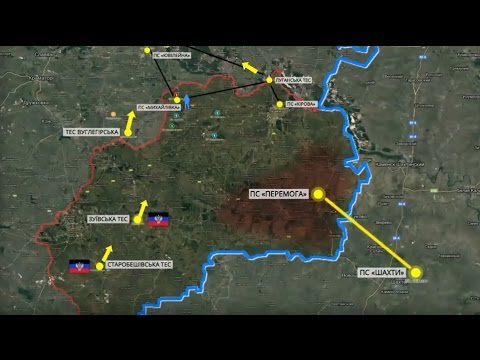 Ukraine Cuts Off Electricity to Occupied Areas of Eastern Ukraine.