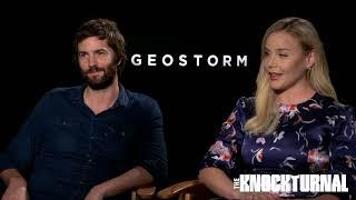 Gerard Butler, Jim Sturgess, Abbie Cornish, Dean Devlin Talk 'Geostorm'