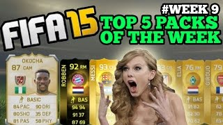 FIFA 15 TOP 5 CRAZY LIVE PACK REACTIONS!! LEGEND JAY JAY OKOCHA IN A PACK + MORE!! WEEK 9!!