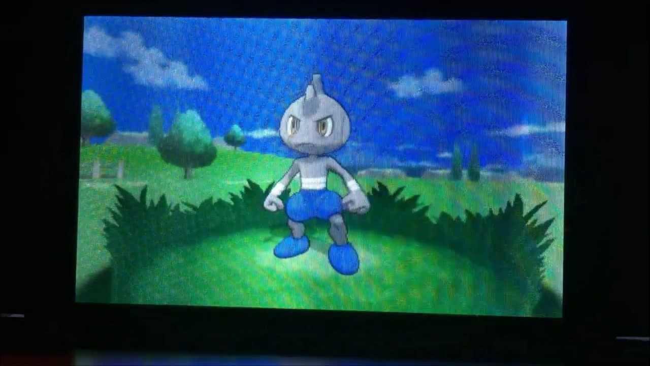 shiny tyrogue pokemon x wild encounter ���� youtube