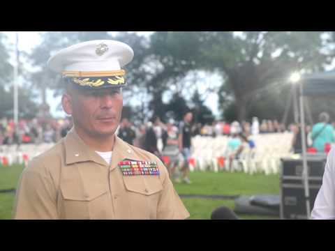 Marines and Australian soldiers honor ANZAC day together