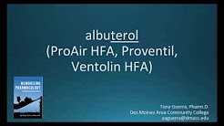 How to pronounce albuterol (Proventil HFA) (Memorizing Pharmacology Flashcard)