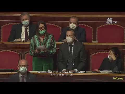 Daniela Santanchè al Senato: lei nasconde sue responsabilità dietro le Forze dell'Ordine. Vergogna!