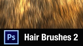 Photoshop Custom Hair Brush Demo (Volume 2)