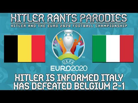 Hitler is informed Italy has defeated Belgium 2-1