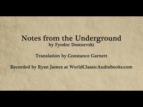 Audiobook: Notes From The Underground By Fyodor Dostoevsk